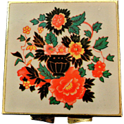 Vintage Flowered Pill Box