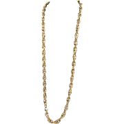 Vintage Gold Tone Metal Extra Long Chain