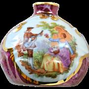 Vintage Limoges Porcelaine d'Art Miniature Single Flower Vase