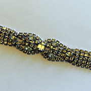 Vintage Clear And Brilliant Rhinestone Bracelet Wedding