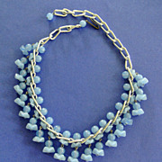 Vintage Unique Glass Bead Necklace