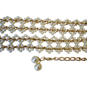hold for S.RL-Vintage Faux Pearl Belt.