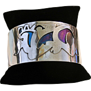 Vintage Titanium Cuff Bracelet