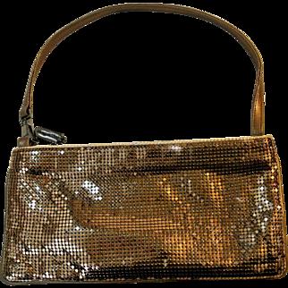 Vintage Whiting & Davis Bronze Clutch/Shoulder Bag Purse