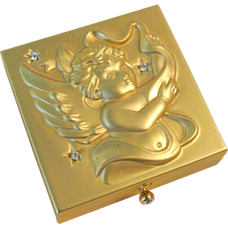 Vintage Cherub Pillbox