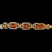 Vintage Topaz Rhinestone Bracelet