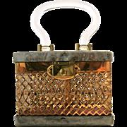 Vintage Dorset Fifth Avenue Gray Lucite Handbag