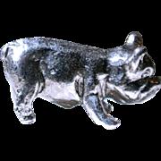 Vintage Miniature Pewter Pig