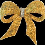 Vintage Hattie Carnegie Rhinestone Bow Brooch Pin