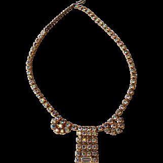 Vintage Aurora Borealis Rhinestones Necklace