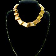 Vintage Flowing Goldtone Ribbon Necklace