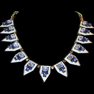 Vintage Art Deco Style Goddess Necklace