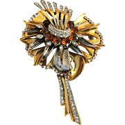 Vintage Grand Reinad Three-Level Flower Brooch Pin