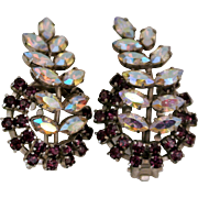 Vintage Austria Rhinestone Earrings