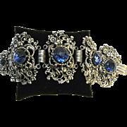 Vintage Ornate Byzantine Rhinestone Bracelet