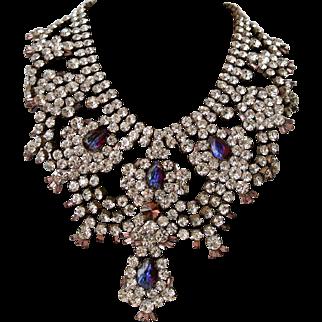 Vintage Czechoslovakian HusarD Rhinestone Necklace