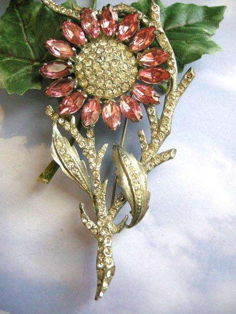 Old Hollywood Vintage Early 1900's Old Hollywood Massive Brooch