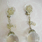 Fabulous Chandelier Shoulder Duster Vintage Earrings Run Way