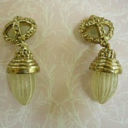 Fabulous Chandelier Lantern  Vintage  Huge  Earrings