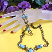 Vintage Egyptian Looking Necklace and Bracelet Demi