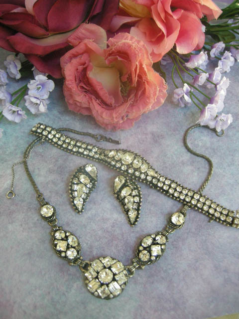 Very Old Kramer NY Breathtaking Necklace earrings Bracelet