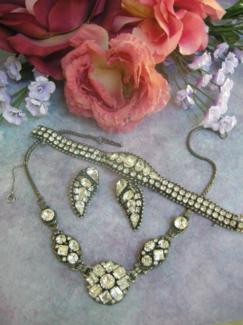 Very Old Kramer NY Breathtaking Necklace earrings Bracelet
