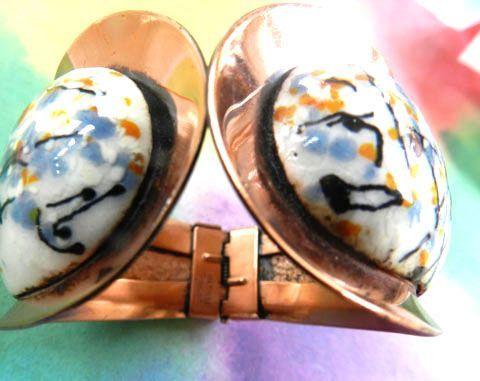 Mid Century Modernistic Matisse Galaxy Clamper Bracelet