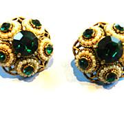 Vintage Hollycraft Emerald