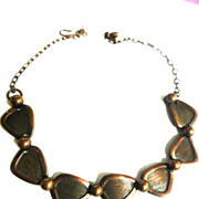Vintage copper Highly Detailed Necklace and Bracelet Vintage