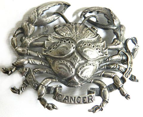 Sterling Silver Cini Cancer the Crab Brooch Vintage