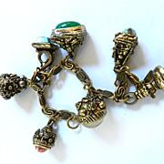 Vintage heavy FOB Charm Bracelet
