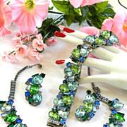 Caribbean Sunshine Designer Vintage Necklace Bracelet Earrings