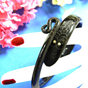 Vintage Snake /Serpent Black  Horn  Vintage Bracelet Late 1800s to Early 1900s