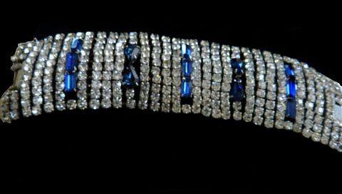 Breathtaking Humongous Vintage Designer Rhinestone Bracelet