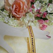 Vintage Flapper Age 1920's Hexagonal Rhinestone Celluloid Bracelet