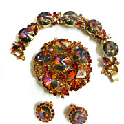 Gorgeous Juliana Rivoli Vintage Brooch earrings Bracelet