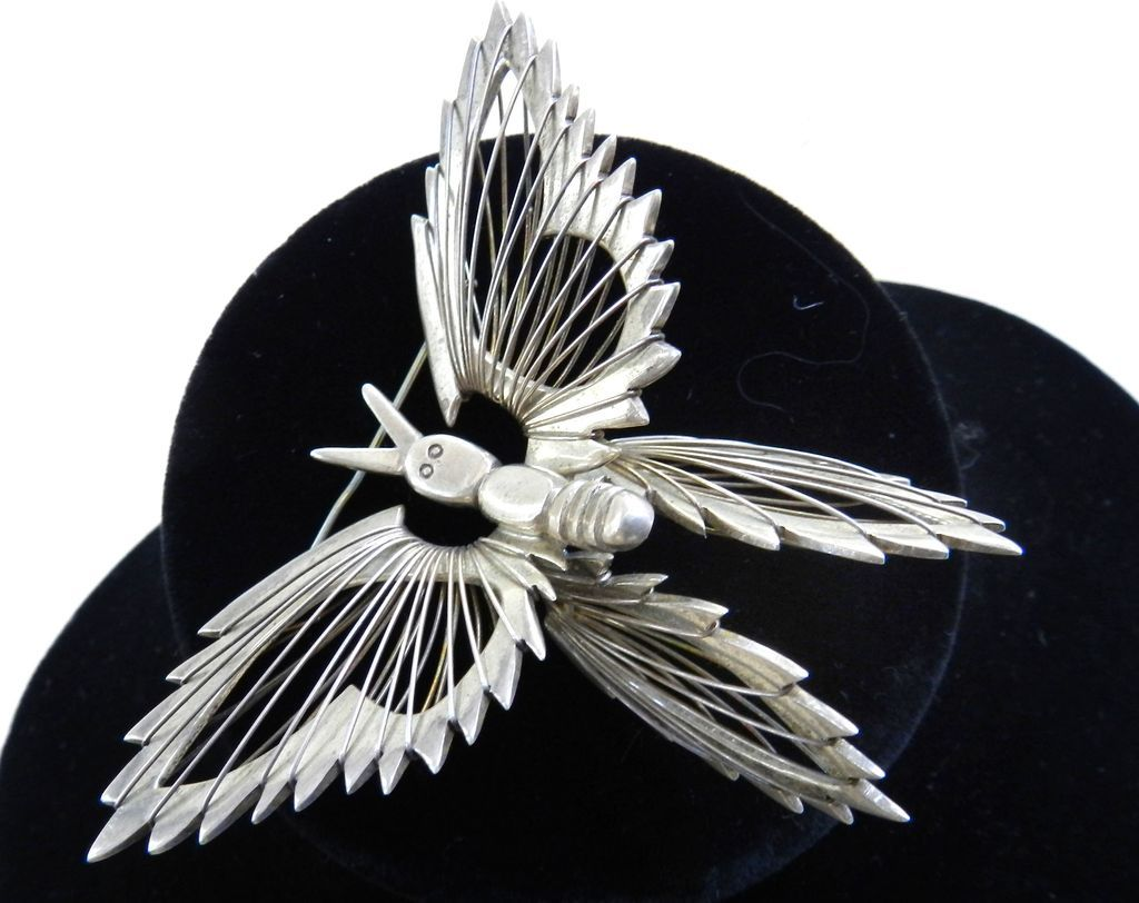 Over the Top Vintage Sterling Magnificent Mexico Butterfly Vintage