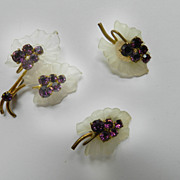 Breathtaking Ultra Feminine Austrian Brooch and Earrings Demi