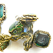 lots of Noise Victorian Style Heavy FOB Charm Bracelet