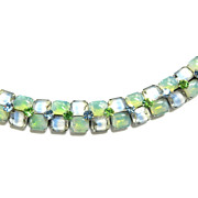 Beautiful  Givre  Kramer N.Y.Vintage Bracelet Mint Green and Blue