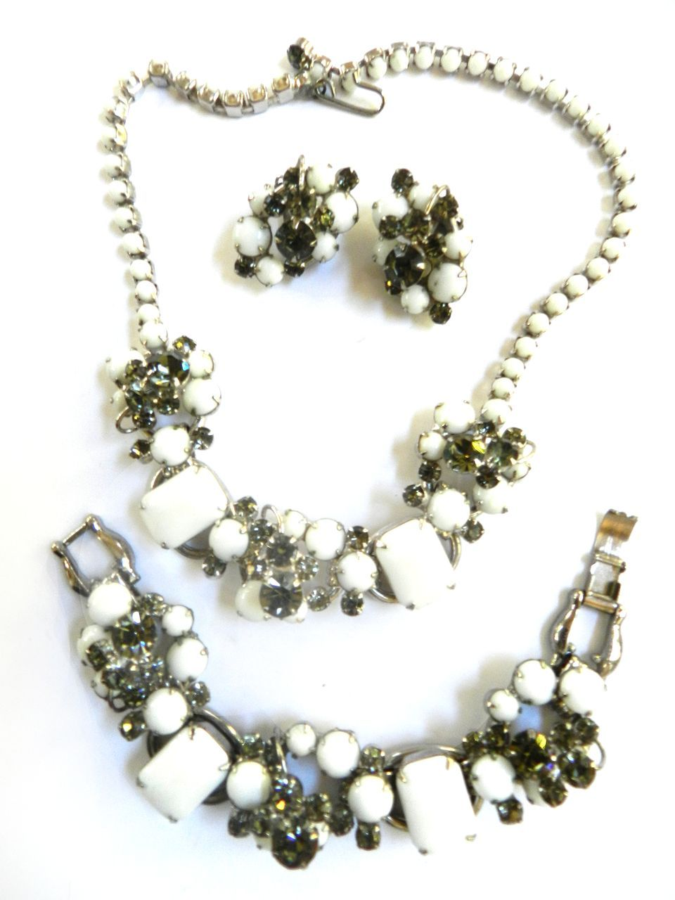 Vintage Juliana Necklace Bracelet and Earring Demi Big and Chunky
