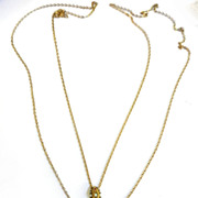 Early 1900s GF FOB Watch Chain with Charms Faux Pearls