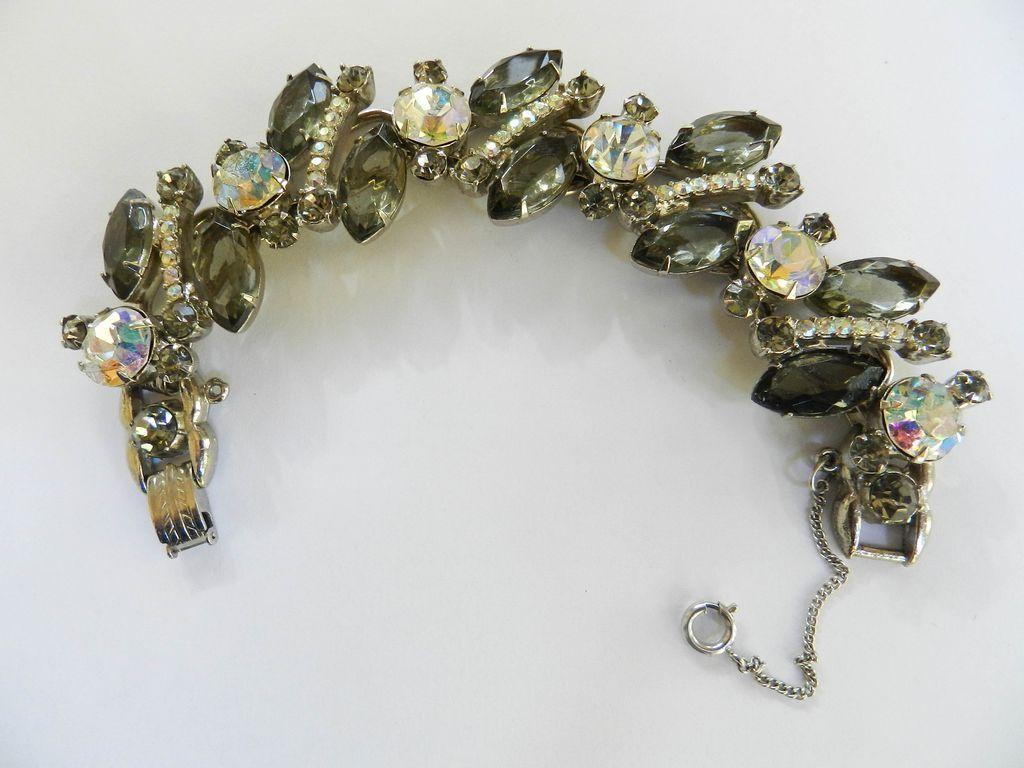 Vintage Juliana Huge Stones 5 Link Bracelet