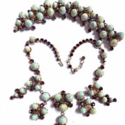 Freedom of Expression High End Designer Faux Turquoise Matrix  Necklace Bracelet earrings