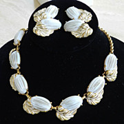 Exquisite Summer Vintage Schiaparelli Necklace Bracelet and Earrings