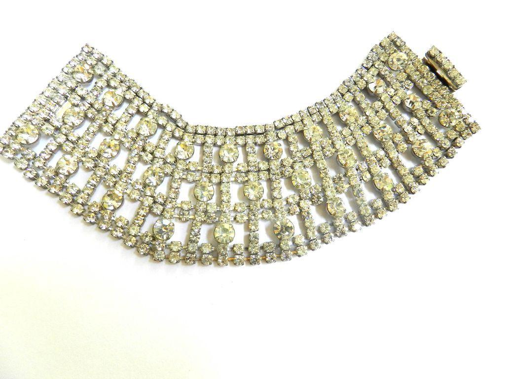Return to Elegance Humongous Vintage Rhinestone Bracelet