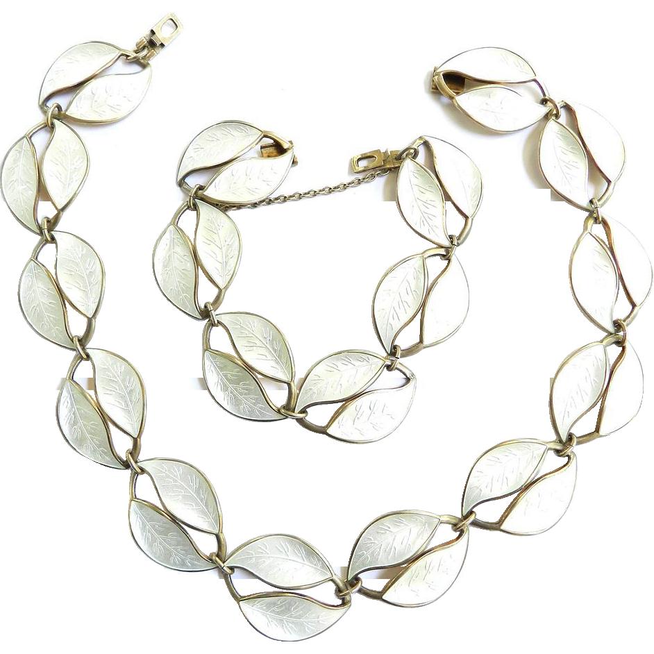 Gorgeous David Andersen Norwegian Vintage Necklace and Bracelet