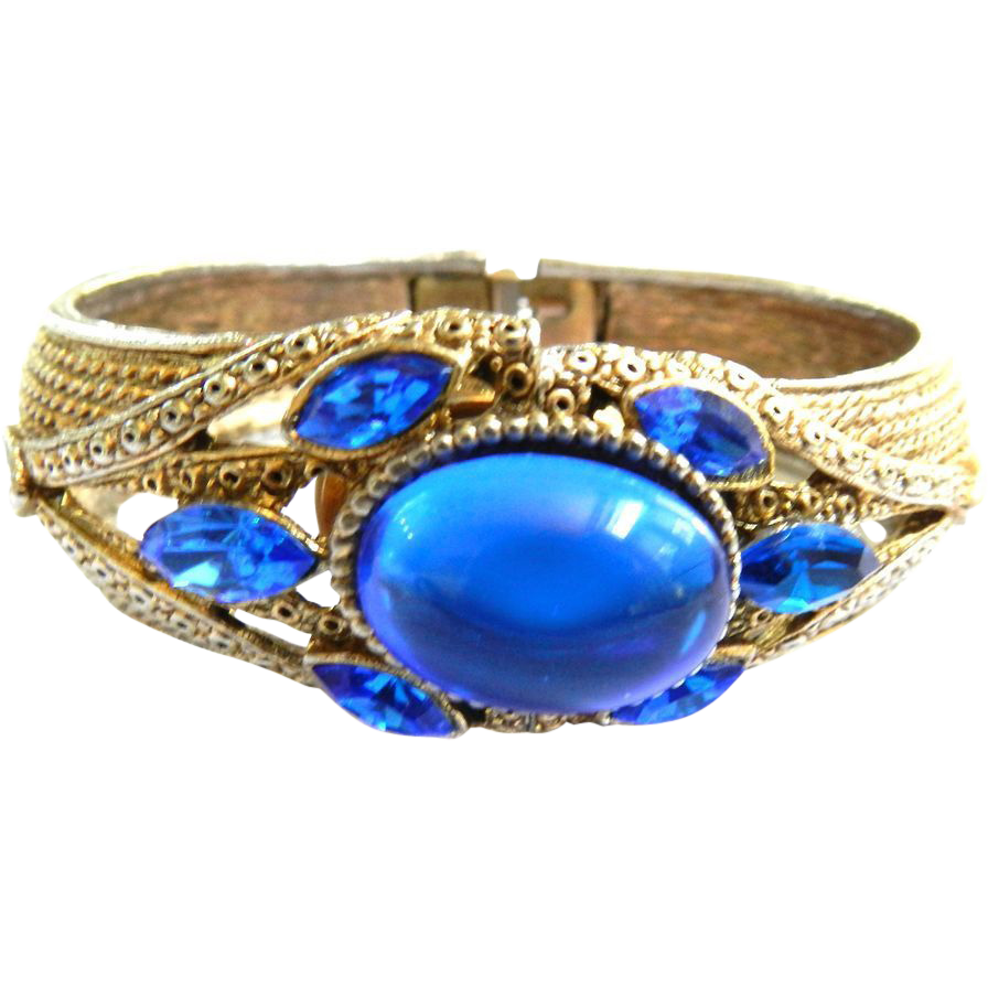 Chase the Blues Away Designer Huge Clamper /Watch Cuff Bracelet