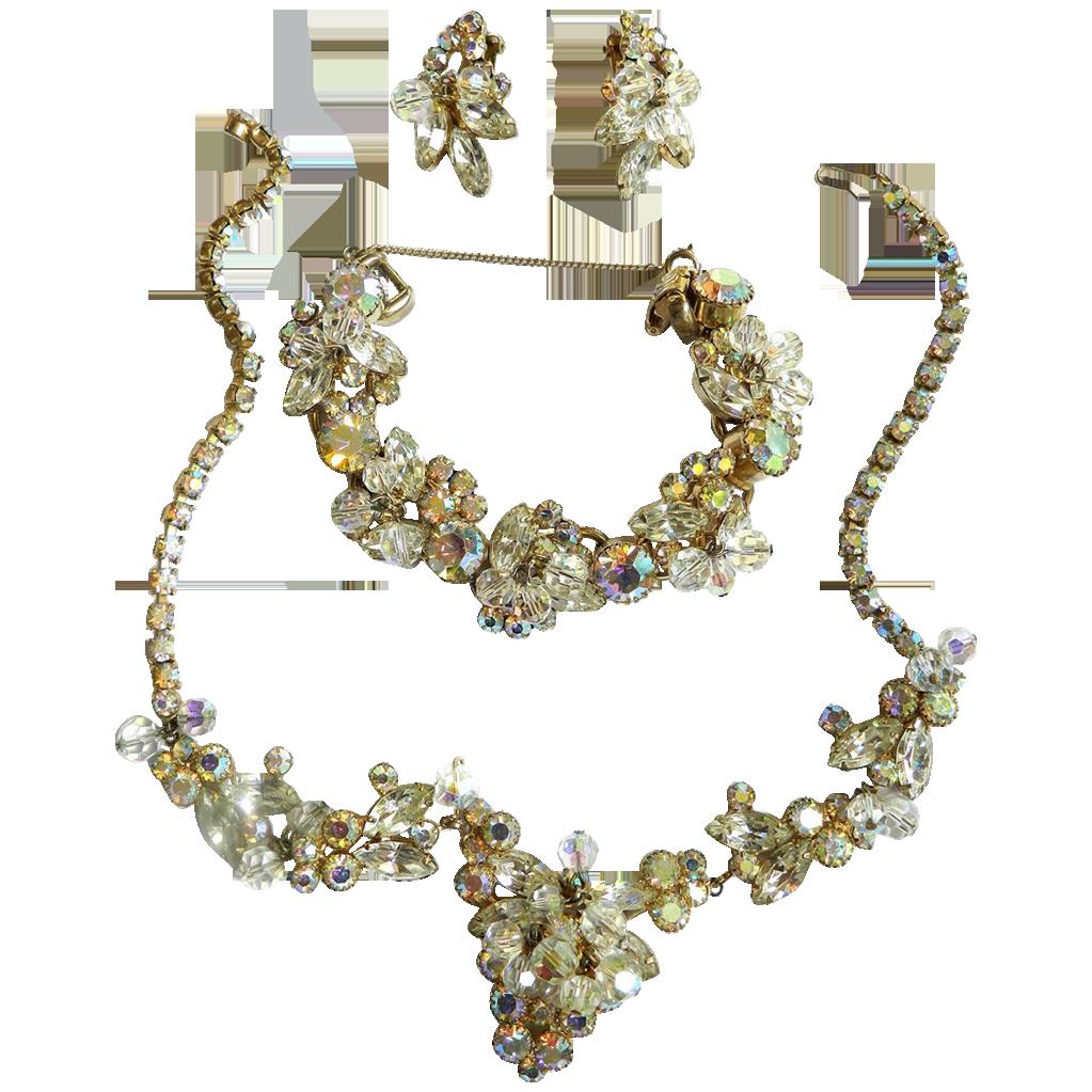 Juliana Cha cha Big Bold Crystal Necklace Bracelet Earrings
