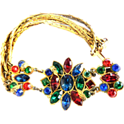 Stained Glass Colors  Vintage High End Designer Bracelet